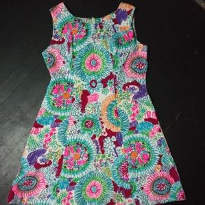 Psychedelic DayGlo 60's Vintage A Line Dress